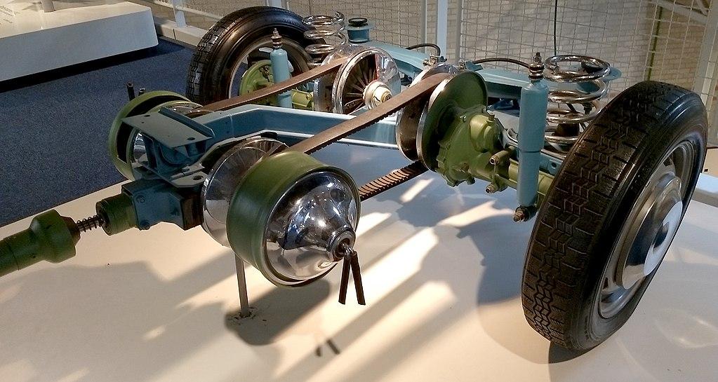 CVT-автоматическая коробка передач для ДАФ 55, шасси снято с рамы