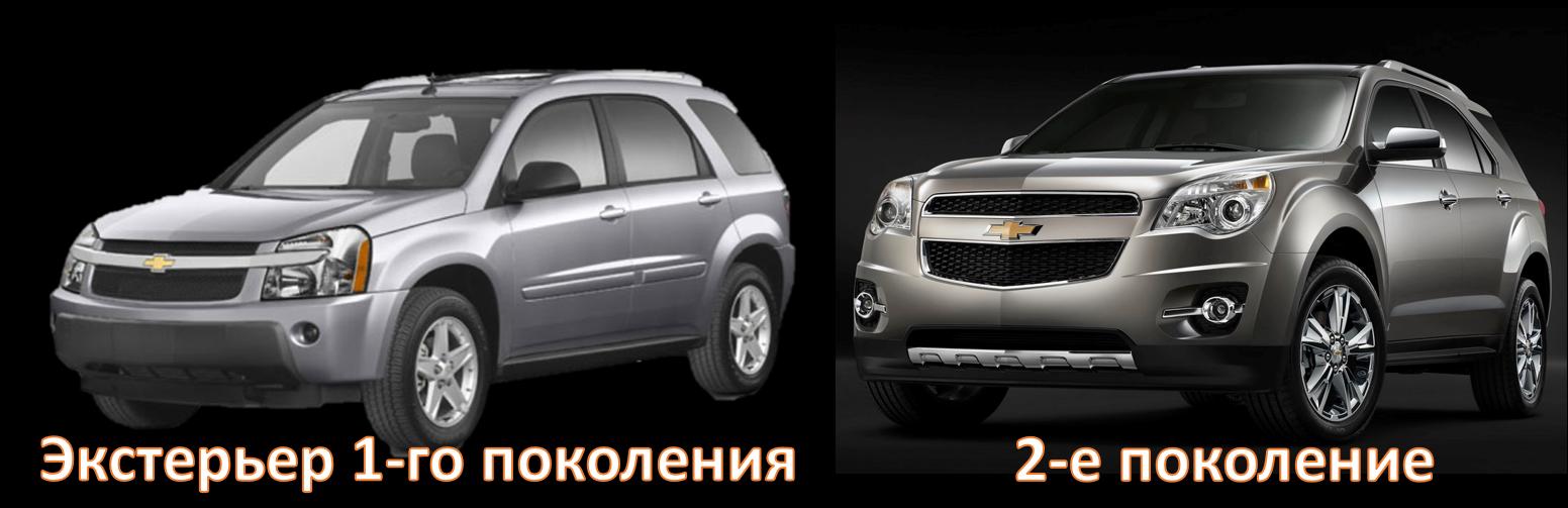Chevrolet Equinox I и II поколения